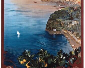 Vintage Sorrento Italy Tourism Poster A3 Print