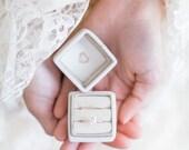 VELVET RING box - mrs. box - wedding rings box - french ring box - vintage velvet ring box - engagement and wedding ring box - vintage style