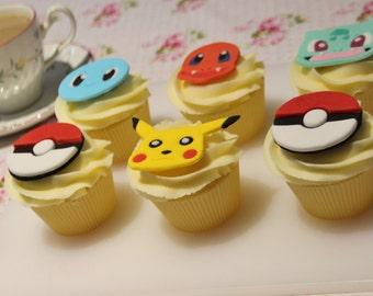 Pokemon Fondant Cupcake Topper Set