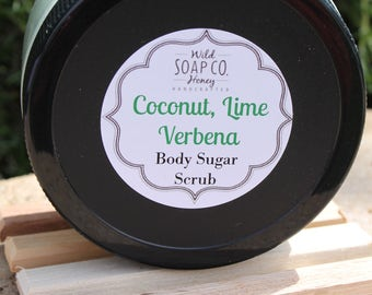 Coconut Lime Verbena Body Sugar Scrub
