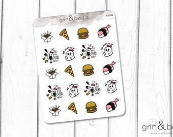All the Food Planner Stickers (BS008)