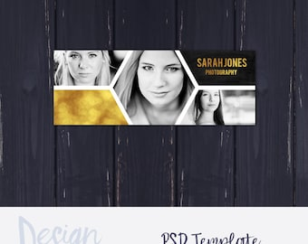 Photography Facebook Cover Template | Facebook Timeline Cover for Photographers | Gold Facebook Cover | Photography Timeline Cover Template