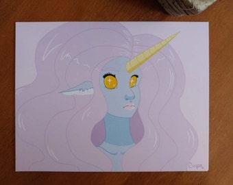 Unicorn Babe Print (8.5x11)