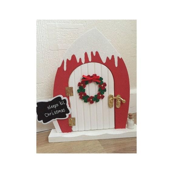 Elf door beautiful magical door glitter snow christmas for Elf door and elf