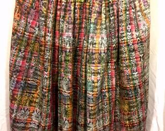 Vintage long skirt, corte skirt, elastic waist long skirt, new corte design, tela tipica, summer looks, boho style, hippie skirt