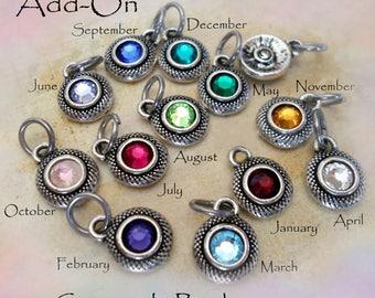 Add-On Swarovski Birthstone Crystal to any Item, Add-On Birthstone, Birthday Gift, Sparkling Swarovski Crystals