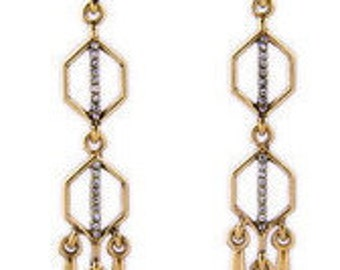 Egyptian Geometric Dangle Earrings EA6077i