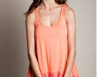 Peach colored Racer back tank
