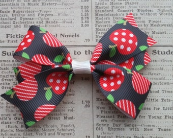 Apple Gilrs Hair Bow, cute hair, hair accessories, party favors