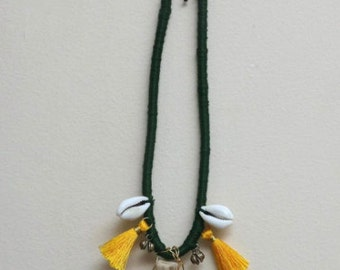 Colorado Wild- Emerald Green Chord Necklace