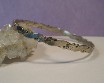 Handmade Mexican silver bangle bracelet
