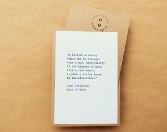 John Steinbeck Typewriter Quote 4x6