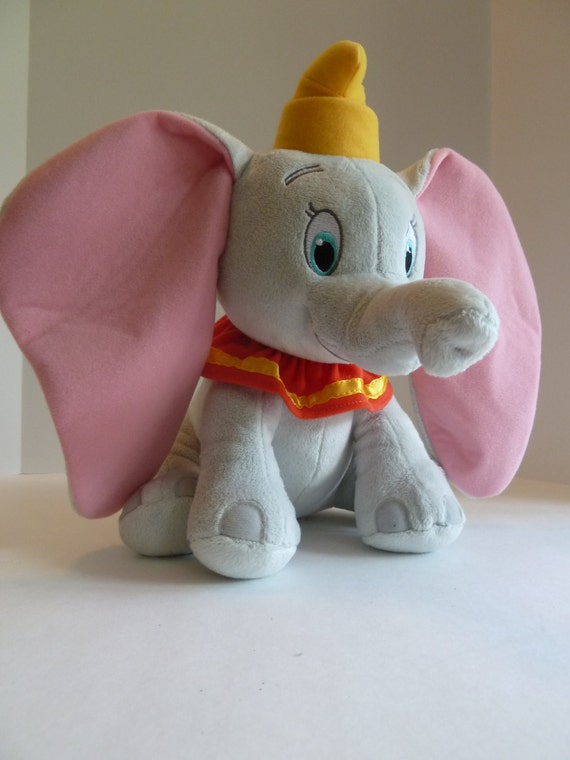 Dumbo the Flying Elephant//Disney Classic Character//nursery decor//12 inches tall//pink ears//gold hat//Disney babies//Magic Kingdom World