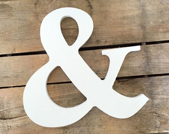 Large Ampersand Sign, Large White Ampersand, 11 Inch Ampersand, Wedding Decor, Photography Prop