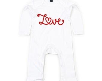 Love bodysuit, baby love bodysuit, baby valentines bodysuit, valentines day bodysuit, baby valentines gift, baby heart bodysuit, baby love