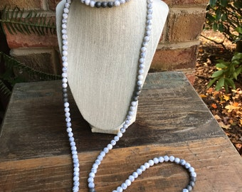 SALE Two Toned Marble Double Wrap