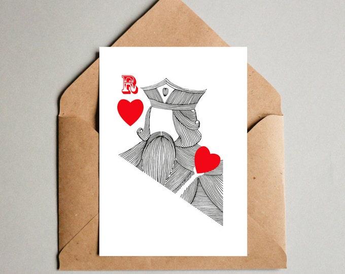 Featured listing image: Roi de cœur, Saint valentin, Valentin, Carte, Affiche, téléchargement, jpg