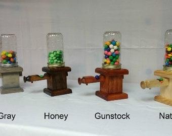 Handmade Wooden Candy Dispenser, Gumball Dispenser, Candy Machine, Gum Machine, Candy Jar