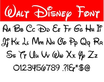 Walt Disney font svg, Walt Disney letters alphabet, Disney font svg, cartoon svg, dxf, cricut, silhouette cutting file, instant download
