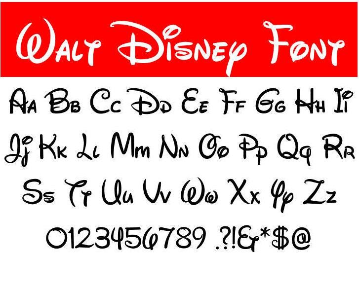 Walt disney font | Etsy
