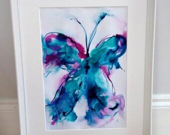 Original Painting SALE - Butterfly Artwork - Not a Print - Butterfly Painting Sale - UK Shop - Contemporary Art Sale - Abstract - Wall Art