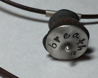 Small Cairn with sterling silver disc w/ simple message