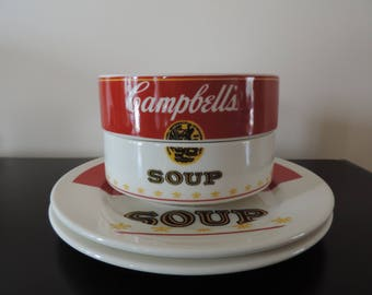 Campbell's - soup bowls - dishes - Collection - Rare