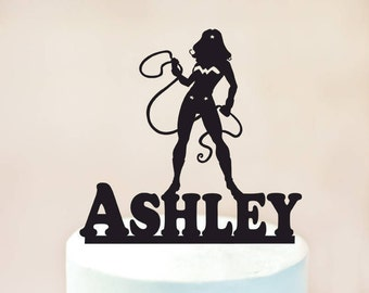 Wonder woman cake topper, Wonder woman Birthday cake topper, Superhero Wonder woman, Wonder woman Party, Wonderwoman Silhouette (1091)