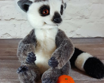 Soft toy handmade Teddy Lemur Rico