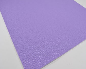 LILAC TEXTURED faux leather sheet, 8x11 faux leather, purple faux leather, lilac faux leather, vegan leather, fake leather fabric