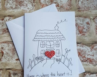 New home card, New home, New house, Congratulations card, Home sweet home, Handmade card, New home gift, Home card, House card, Moving card