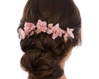 Floral Headpiece - Flower Headpiece - Bridesmaid Flower Headpiece - Wedding Flower Headpiece - Bridal Flower Headpiece - Gift for bridesmaid