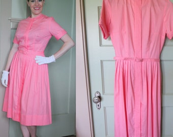 Pink Vintage Dress, Shirtwaist Dress, Shirtwaist Classic, Pink, Vintage Dress, Easter