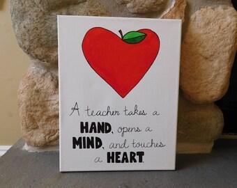 Canvas Teacher Quote - Classroom Decor - Teacher Gift - Teacher Appreciation