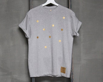 T-Shirt Angel, Grey with Gold