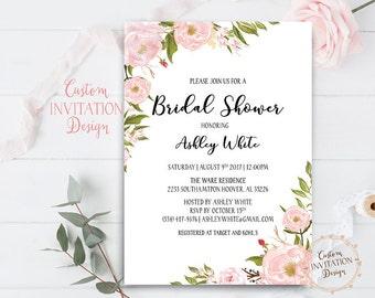 Bridal shower invitation rustic, Bridal shower invitation, bridal shower invites, bridal shower invitation template - US_BI0301b