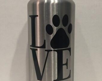 36oz. RTIC Bottle/Dog Love