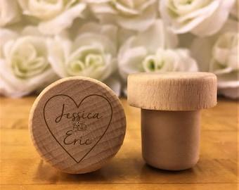 Personalized Wine Stopper - Custom Wine Stopper - Engraved Wood Wine Stopper - Wedding Favor - Wine Wedding Gift - Wine Cork - Customized