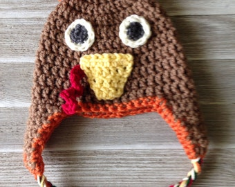 Crochet Thanksgiving Turkey Hat