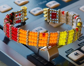 Rhythm Machine Bangle, TR-808, Roland, TTAP, beads bracelet