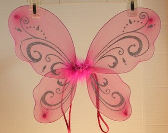 Hot Pink Butterfly/Fairy Wings
