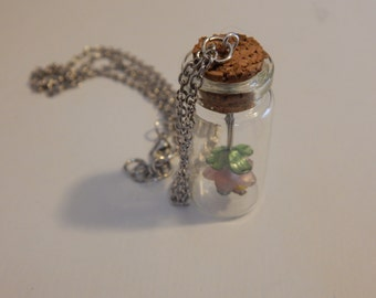 Hanging Flower Jar Necklace