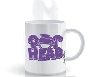 Pot Head 3 - Funny Coffee Mug, Coffee Pot, Pun