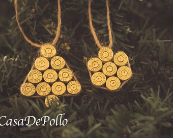 Clean .40 Spent Brass Christmas Ornaments, Ammo Ornaments, Spent Brass Ornaments, Bullet Ornaments, Ammo Christmas Ornaments