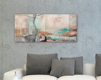 Acrylic Painting Landscape, Original Painting Canvas, Abstract Painting, Canvas Painting, Original Painting, Blue Painting, Large Wall Art