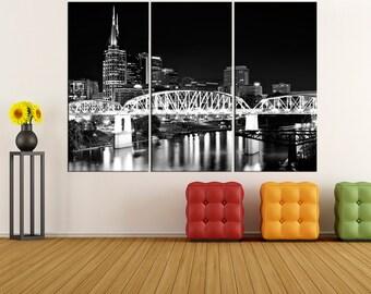 Nashville Wall Art nashville skyline | etsy