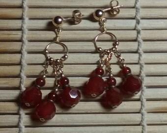 Carnelian & Gold Filled Earrings