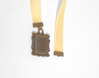 Pale Yellow Velvet Once Upon a Time Ribbon Charm Bookmark