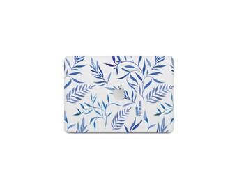 Blue Leaves Macbook Case