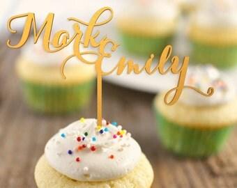 Wedding Cupcake Toppers - Cupcake topper - wedding cupcake decorations  -  cupcake toppers